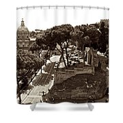 Below The Capitoline Hill Shower Curtain
