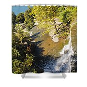 Below The Ledge Shower Curtain