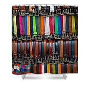 Belts Galore Shower Curtain