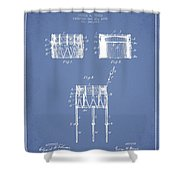Bemis Snare Drum Patent Drawing From 1886 - Light Blue Shower Curtain
