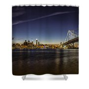 Ben Franklin Bridge Shower Curtain