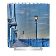 Ben Franklin Bridge Walkway Shower Curtain