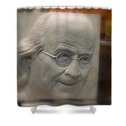Ben Franklin Looking Out Shower Curtain by Richard Reeve