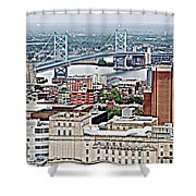 Ben Franklin View Shower Curtain