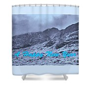 Ben Nevis Happy New Year Greeting Shower Curtain