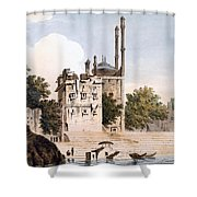 Benares On The Ganges Shower Curtain by William Hodges
