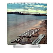Bench And Table  Shower Curtain