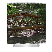 Bench Made Of Tree Branches Shower Curtain