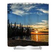 Beautiful Sunset At Waskesiu Lake Shower Curtain