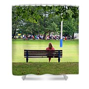 Bench Thoughts Shower Curtain