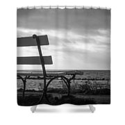 Bench With A View Shower Curtain