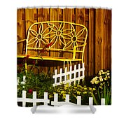 Bench With No Name  Shower Curtain
