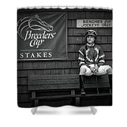 Benches For Jockeys Only Shower Curtain