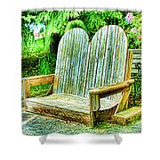 Benches II Shower Curtain
