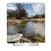 Bend In The Breamish River Shower Curtain