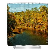 Bend In The Navasota Shower Curtain
