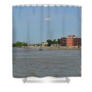 Bend Of The Mississippi River Shower Curtain