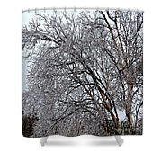 Bending With Ice Shower Curtain