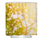 Beneath A Tree  14 5199   Diptych  Set 1 Of 2 Shower Curtain