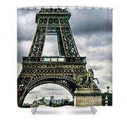 Beneath The Eiffel Tower Shower Curtain