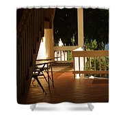 Beneath The Stairs Shower Curtain