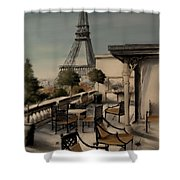 Beneath The Tower   Number 1 Shower Curtain by Diane Strain