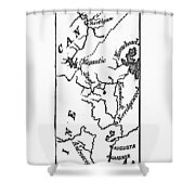 Benedict Arnold: Map, 1775 Shower Curtain
