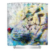 Bengal Explosion Shower Curtain