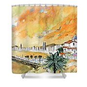 Benidorm Old Town Shower Curtain