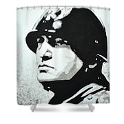 Benito Mussolini Shower Curtain