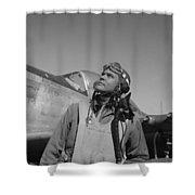 Benjamin Davis - Ww2 Tuskegee Airmen Shower Curtain