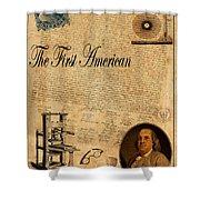 Benjamin Franklin Shower Curtain