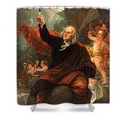 Benjamin Franklin Drawing Electricity From The Sky Shower Curtain