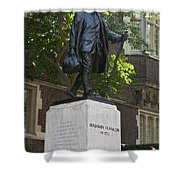 Benjamin Franklin Statue University Of Pennsylvania Shower Curtain