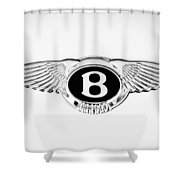 Bentley Emblem -0082c Shower Curtain