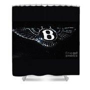 Bentley Logo Hood Ornament #  2 Shower Curtain