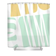 Bento 1- Abstract Shape Painting Shower Curtain