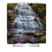 Benton Falls In Spring Shower Curtain