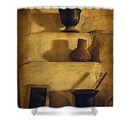 Bent's Old Fort Kitchen Fireplace Shower Curtain