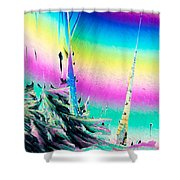 Benzoic Acid Microcrystals Coloful Abstract Art Shower Curtain