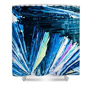 Benzoic Acid Microcrystals Color Abstract Shower Curtain