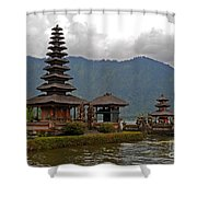Beratan Island Temple Shower Curtain