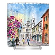 Bergamo Lower Town 01 Shower Curtain