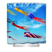 Berkeley Kite Festival 1 Shower Curtain