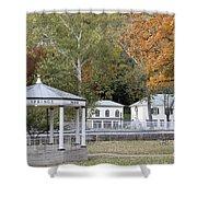 Berkeley Springs Bandstand In West Virginia Shower Curtain