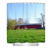 Berks County - Griesemer's Covered Bridge Shower Curtain