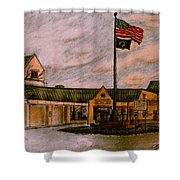 Berks County Jail Main Entrance Shower Curtain