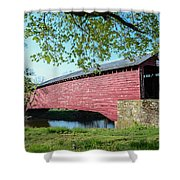 Berks Courty Pa - Griesemer's Covered Bridge Shower Curtain