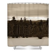 Berkshires Winter 1 - Massachusetts Shower Curtain