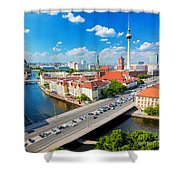 Berlin Germany View On Major Landmarks Shower Curtain